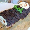Gâteau roulé à la confiture (bûche de noël)