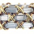 A diamond, gold and platinum ring, by tiffany & co, schlumberger