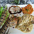 Faisan, à la crème de foie gras d'oie, accompagné de toasts foie gras d'oie et de galettes de pommes de terre