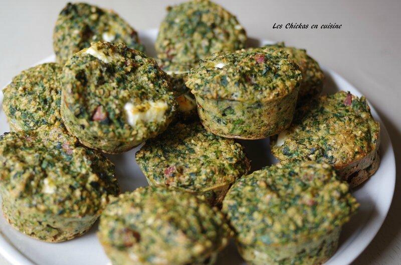 Muffin salé éipnard, pesto, jambon, feta (2)