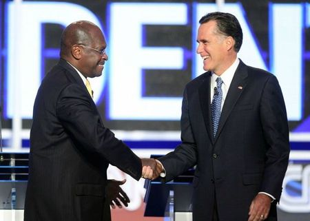 inessman-cain-and-former-massachusetts-governor-romney-greet-each-other-before-the-start-of-the-cnn-western-republican-presidential-debate-in-las-vegas