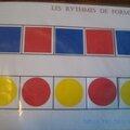 Les rythmes de formes et de couleurs(autisme et apprentissages)-première activité de logique