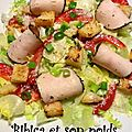 Salade caesar allégée