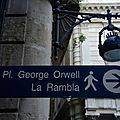 Barcelone, quartier gothique, place George Orwell (Espagne)