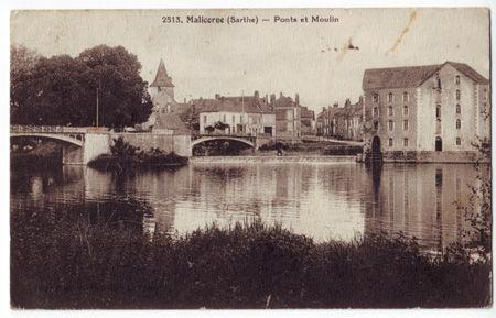 72 - MALICORNE - Ponts et Moulin