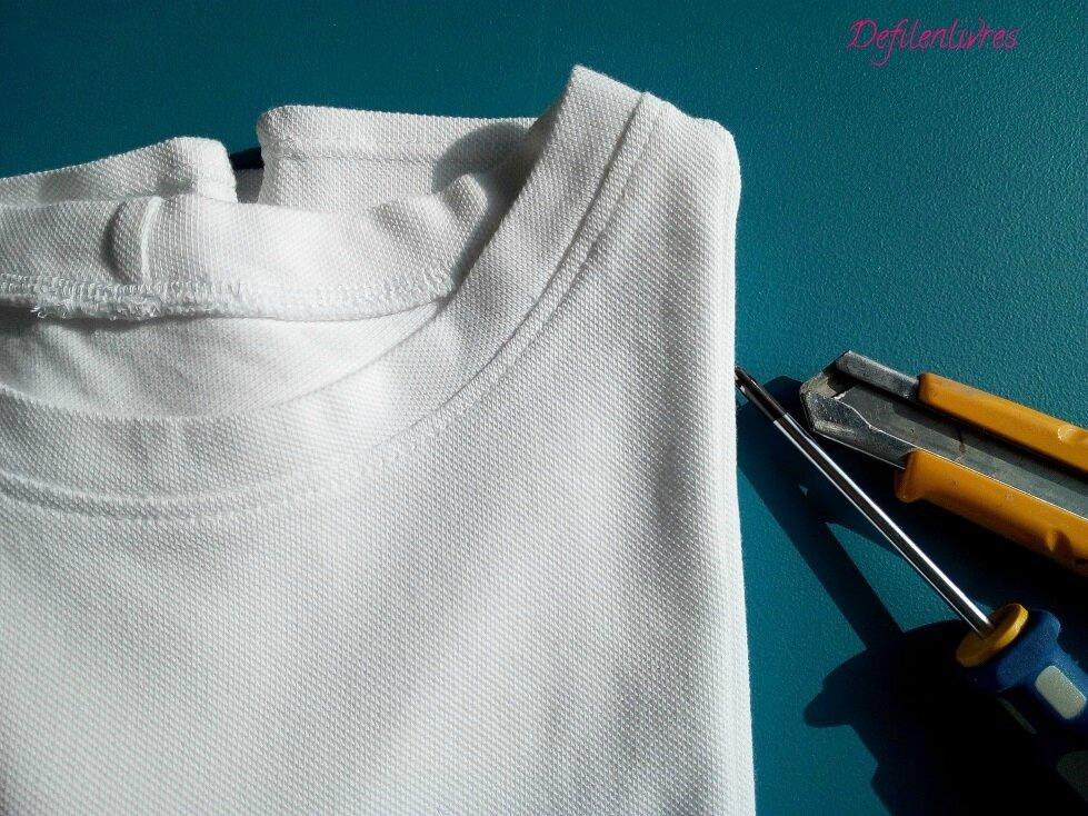 Tee-shirt col rond pour monsieur de Casualwear homme et défi Coudre pour un Homme