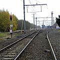 Ligne 97 -La voie unique vers Thulin, Hainin, Boussu, Saint Ghislain.