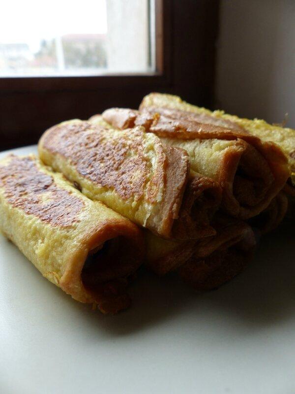 pain perdu roul au nutella recettes rapides pour maman d bord e. Black Bedroom Furniture Sets. Home Design Ideas