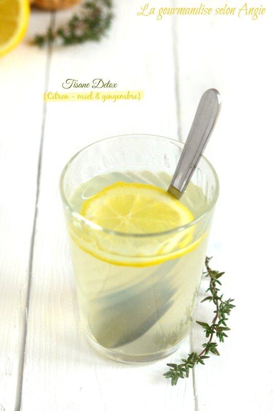 tisane detox citron miel et gingembre 1