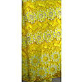 Dentelle guipure - jaune - 5 yards