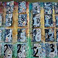 Challenge artjournal et gribouillages : calendrier de l'avent
