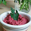 Houmous rose à la betterave (recette végétale et sans gluten)