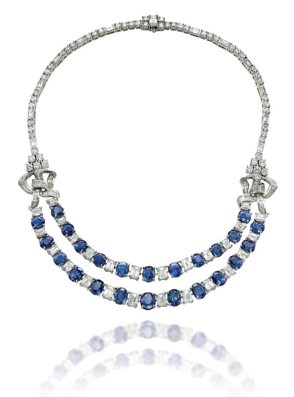 A sapphire and diamond necklace, by Bulgari (2)
