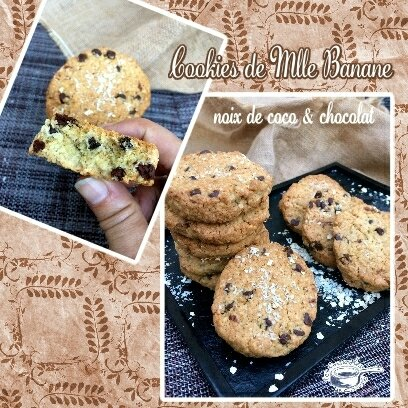 cookies noix coco choco Mlle Banane (SCRAP)