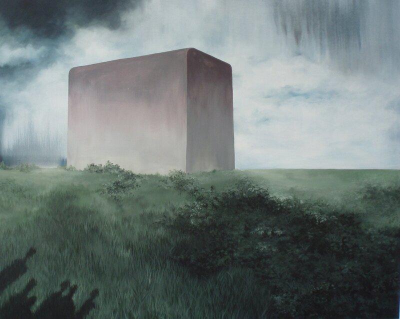 Linda Roux, Sarcophage, acrylique sur toile, 100 x 80 cm, 2011