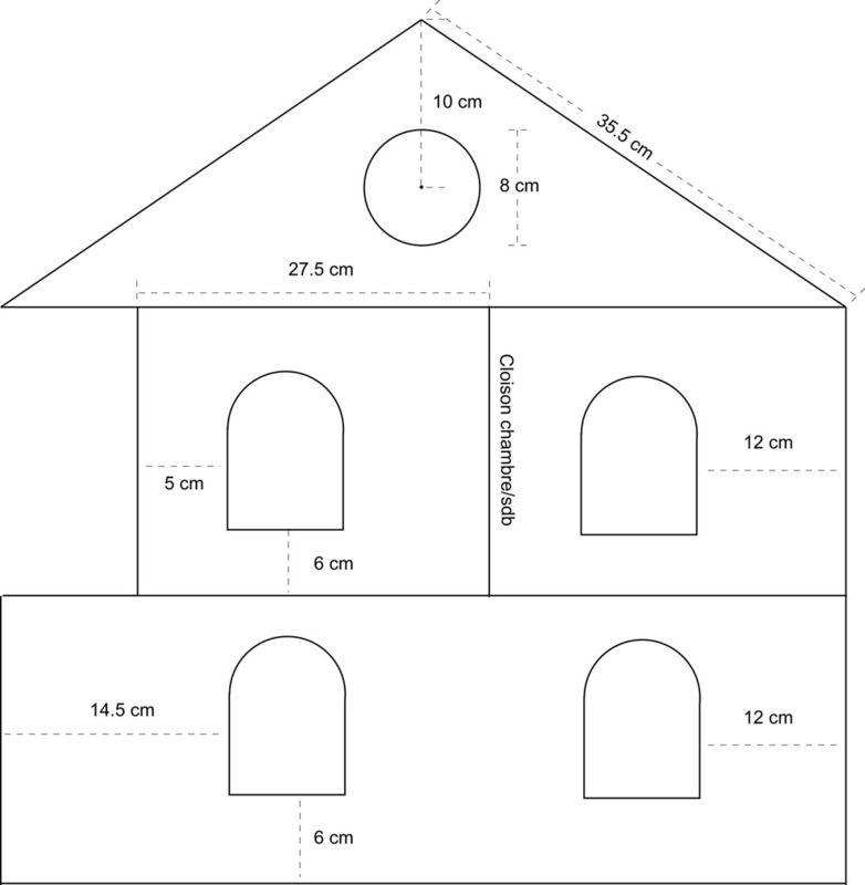 Patron de maison en papier blitz blog - Patron maison en carton ...