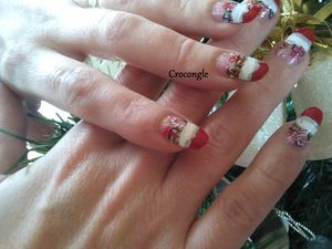 Nail art cadeaux de noël Crocongle2