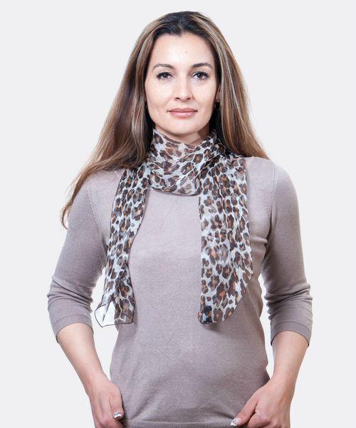 Foulard léopard femme