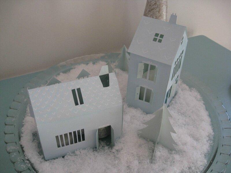 maisons photophores en papier