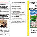 Programme d'activités et de manifestations du foyer rural : 2ème semestre 2020, 1er semestre 2021
