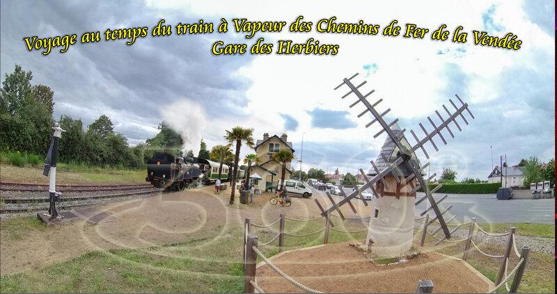 Voyage au temps du train à Vapeur des Chemins de Fer de la Vendée Gare des Herbiers