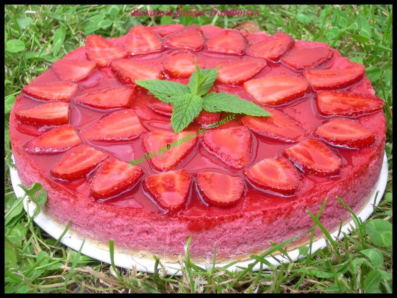Bavarois fraises-framboises Dukan