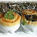 Cassolettes aux champignons des bois