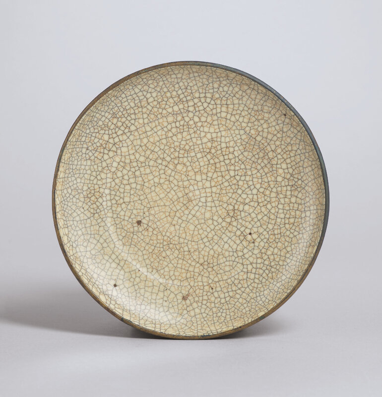 AGeshallow dish, Southern Song-Yuan dynasty (1127-1368)