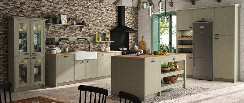 cuisine-originale-bois-ilot-morel-maison-famille-shaker-cottage