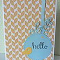 Scrapbooking card, bird, 4enscrap