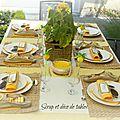 Une magnifique décoration de table estivale