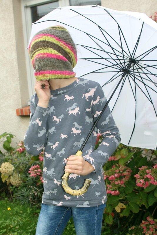 En prime, un snood tricoté par mamie !