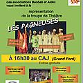 Samedi 27 octobre - au caj (la grand font) - 16 h 30 : représentation de théâtre de la troupe