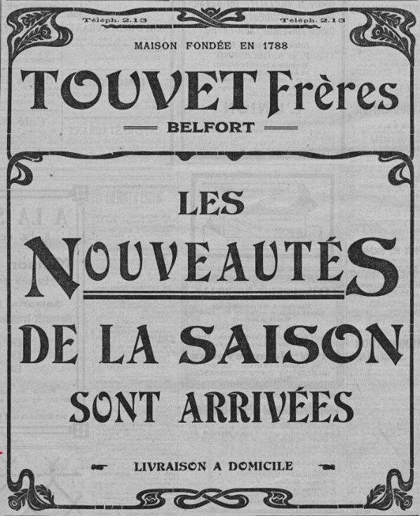 1922 03 18 Mi carême L'Alsace Pub Touvet
