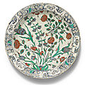 An iznik polychrome pottery dish, turkey, circa 1580-90