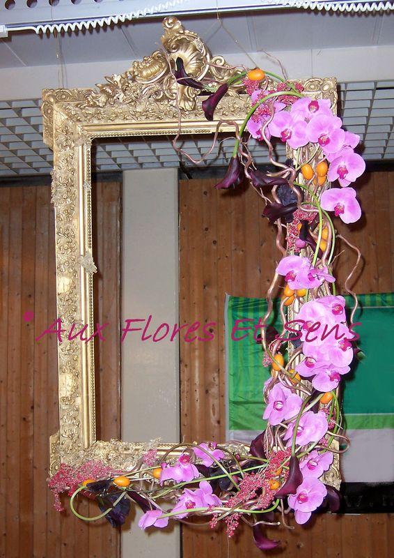 Décor de cadre avec Phalaenopsis et Kumquat