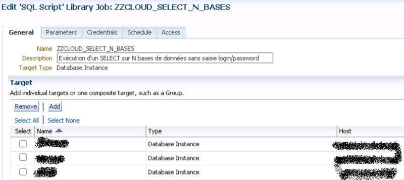 Canalblog DBA Oracle Cloud Control Select Via Un Job Avec Un Groupe De N Bases02