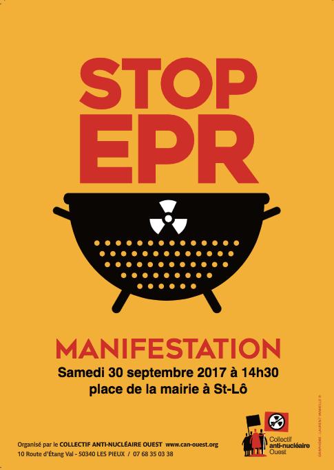manifestation anti EPR Saint-Lô samedi 30 septembre 2017 affiche poster visuel
