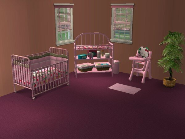 chambre de b b hello kitty fashion sims. Black Bedroom Furniture Sets. Home Design Ideas