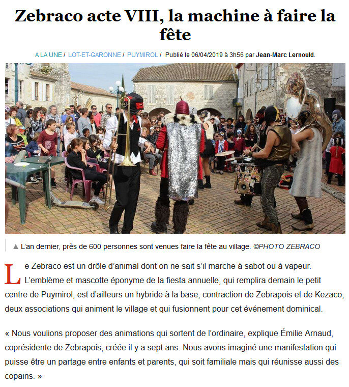 Article Sud-Ouest 6 avril 2019 1