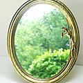 Décoration ... miroir avec statuette * orphée