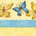 Banière papillons