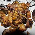 Gratin courgettes, boeuf & pistache