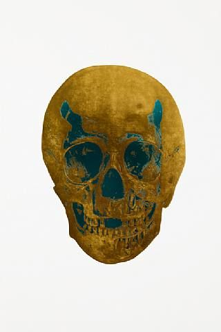 Damien Hirst, The Dead Oriental Gold Turquoise Skull , 2009