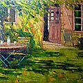 Le peintre antoine melchior magnifie la nature... et son jardin