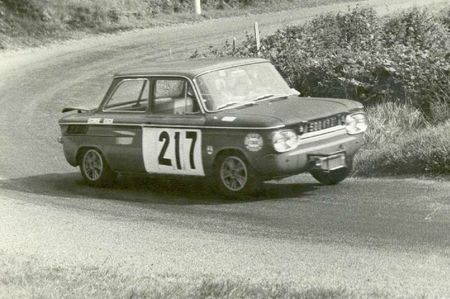 1967 - CC du Beaujolais - NSU TTS N° 217 - 500 KR 01 - Yves Evrard