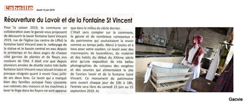 06) 13 juin 2019 - le lavoir et la fontaine St Vincent