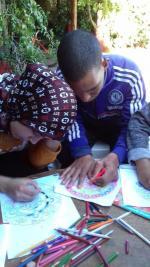 Farah et Imed à leurs oeuvres