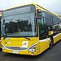 IVECO Crossway Low Entry autobus Car Jaune 2015 Sainte Anne (1)