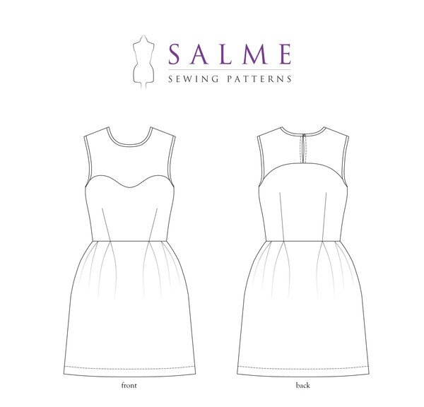 Salme Patterns - Yoke Dress